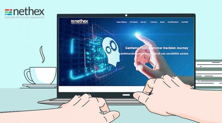 Online il nuovo sito di Nethex, focus su Customer Journey, tante novità e grande attenzione alle nostre storie di successo